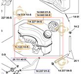 Réservoir k1406508s moteurs Kohler