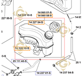 Tank k1406508s engines KOHLER