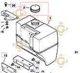 Bouchon réservoir k2517302s moteurs Kohler