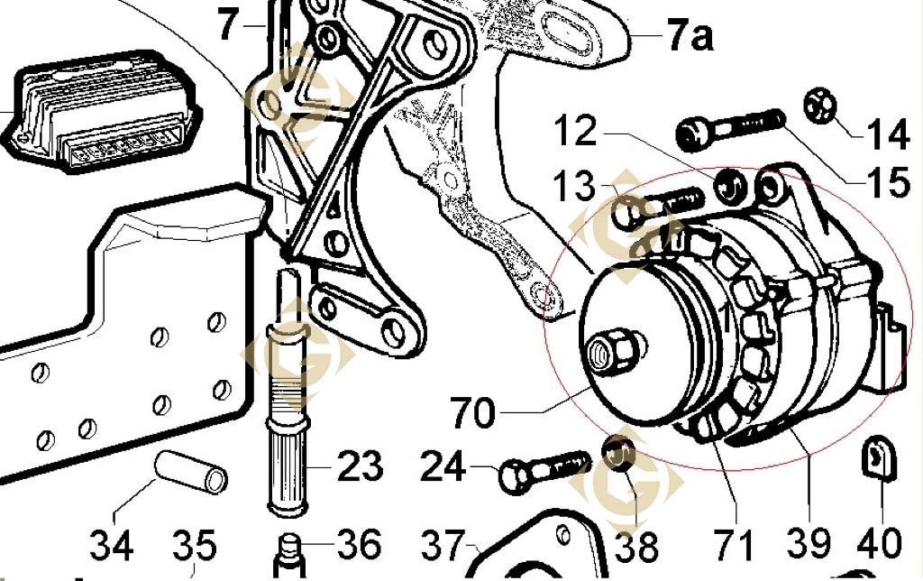 automobile alternator 1157383 engine lombardini ldw 1204. Black Bedroom Furniture Sets. Home Design Ideas