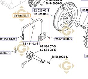 Pièces détachées Module d'allumage k6258404s Pour Moteurs Kohler, de marque Kohler