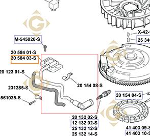 Pièces détachées Module d'allumage k2058403s Pour Moteurs Kohler, de marque Kohler
