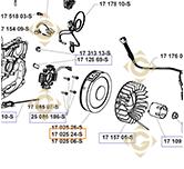 Flywheel k1702524s engines KOHLER