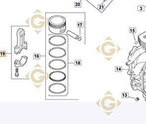 Pièces détachées Bielle k1206705s Pour Moteurs Kohler, de marque Kohler
