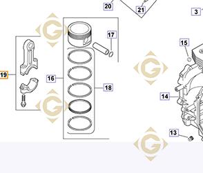 Spare parts Connecting Rod k1206705s For Engines KOHLER, by marks KOHLER