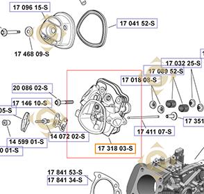 Pièces détachées Kit culasse k1731803s Pour Moteurs Kohler, de marque Kohler
