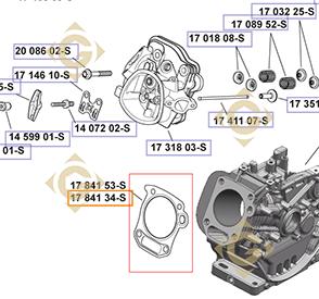 Spare parts Head Gasket k1784134s For Engines KOHLER, by marks KOHLER