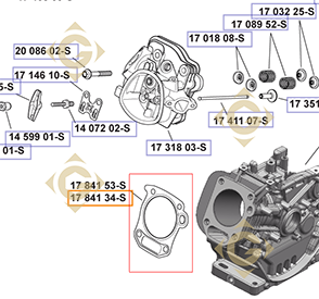 Pièces détachées Joint de Culasse  k1784134s Pour Moteurs Kohler, de marque Kohler