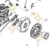 Volant Moteur k1702501s moteurs Kohler