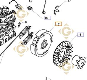 Spare parts Flywheel k1702501s For Engines KOHLER, by marks KOHLER