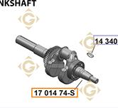 Vilebrequin k1701474s moteurs Kohler