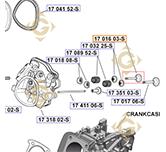 Exhaust Valve k1701603s engines KOHLER