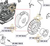 Volant moteur k1702503s moteurs Kohler