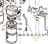 Filtre à Air Complet  3700329 moteurs Lombardini