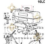 Bouchon Réservoir 9043090 moteurs Lombardini