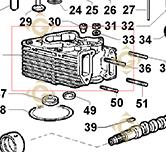 Culasse Complète  9200711 moteurs Lombardini