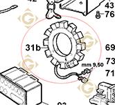 Pièces détachées Stator pour Alternateur 2fils 8565090