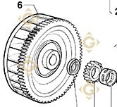 Flywheel 9881339 engines LOMBARDINI