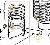 Piston Complet  a20r063 moteurs Lombardini