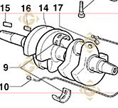 Conical Cranckshaft 2941000 engines LOMBARDINI