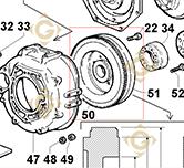 Flywheel 9880167 engines LOMBARDINI