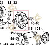 Ventilateur 9718108 moteurs Lombardini
