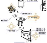Air Filter Base k1709433s engines KOHLER