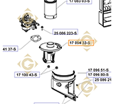Base pour Filtre à Air k1709433s moteurs Kohler
