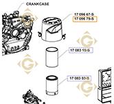 Couvercle de Filtre à Air  k1709679s moteurs Kohler