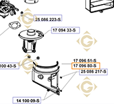 Air Filter Top k1709680s engines KOHLER