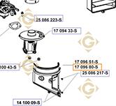 Couvercle de Filtre à Air k1709680s moteurs Kohler