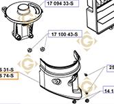 Couvercle Filtre à Air  k1709674s moteurs Kohler