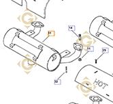 Echappement  k2406810s moteurs Kohler