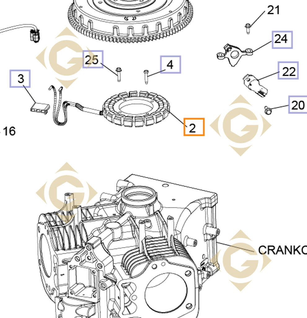 Alternator 15 20 Amp 237878s Engines Kohler Gdn Industries 5 Engine Diagram Spare Parts For By Marks
