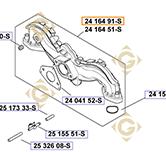 Collecteur d'Admission k2416491s moteurs Kohler