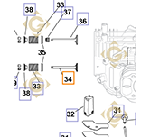 Spare parts Exhaust Valve k3201601s