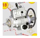 Pompe à injection 6590576 moteurs Lombardini