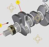 Vilebrequin KDI 1051485 moteurs Lombardini
