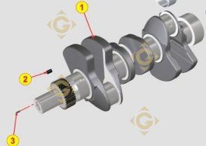 Spare parts Cranckshaft KDI 1051485 For Engines LOMBARDINI, by marks LOMBARDINI
