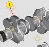 Vilebrequin KD 1050886 moteurs Lombardini