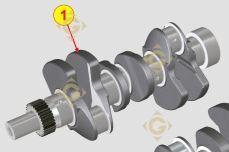Spare parts Cranckshaft KDI 1050886 For Engines LOMBARDINI, by marks LOMBARDINI
