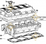 Culasse complète  9200705 moteurs Lombardini