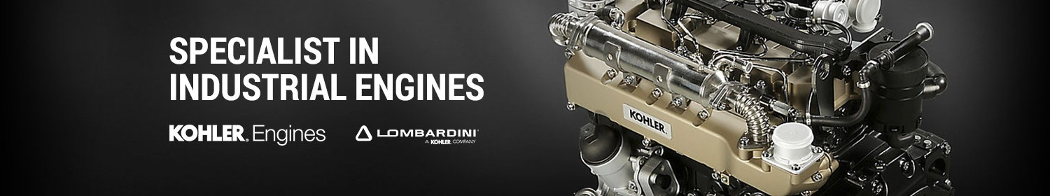 Specialist in industrial engines Kohler Engines and Lombardini